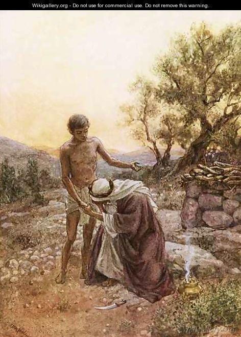 Abraham and Isaac at mount Moriah