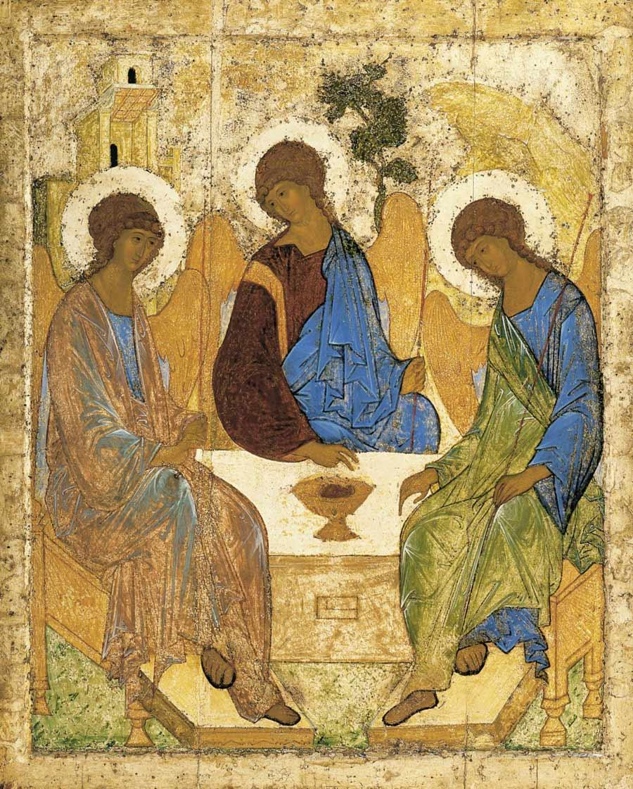 Angelsatmamre trinity rublev 1410
