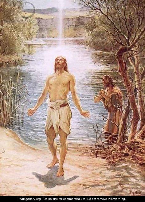 Christ baptised by John the Baptist - William Brassey Hole