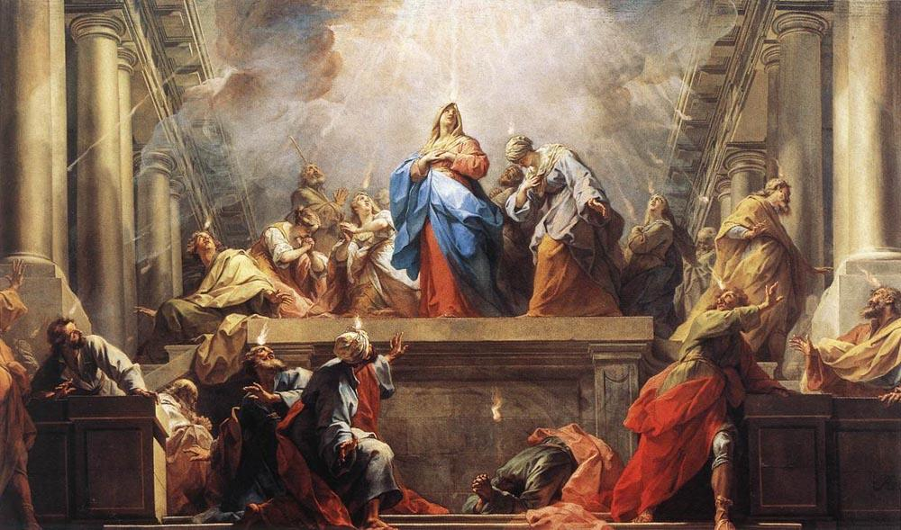 Jean II Restout, Pentecost, oil on canvas, 1732