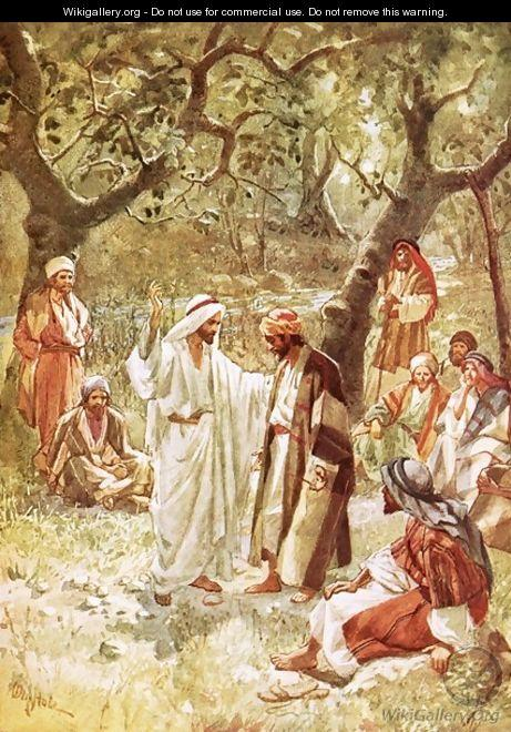 Jesus asking his disciples whom the people say he is
