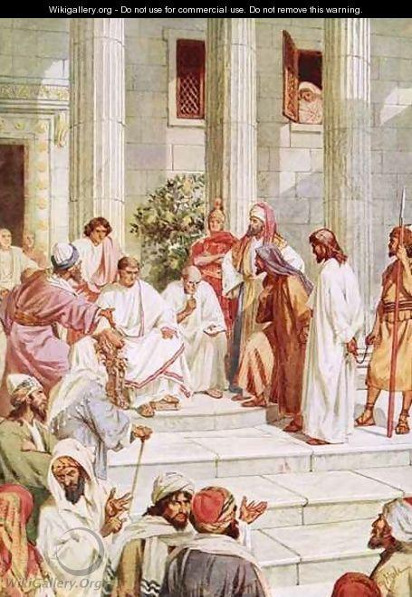 Jesus brought before Pilate