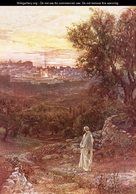Jesus on the mount of Olives - William Brassey Hole
