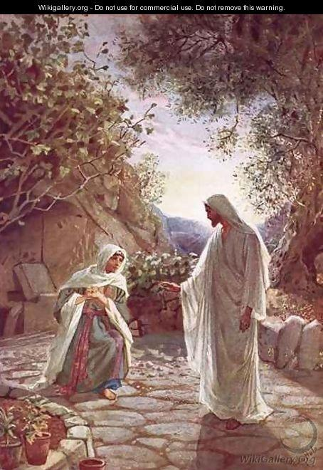 Jesus revealing himself to Mary Magdalene