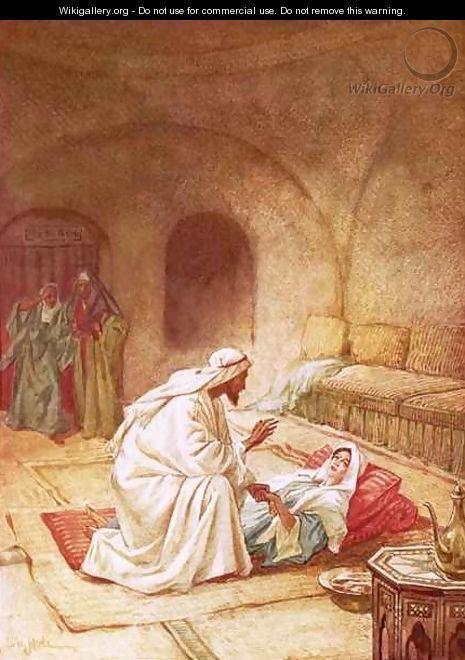Jesus reviving Jairuss daughter