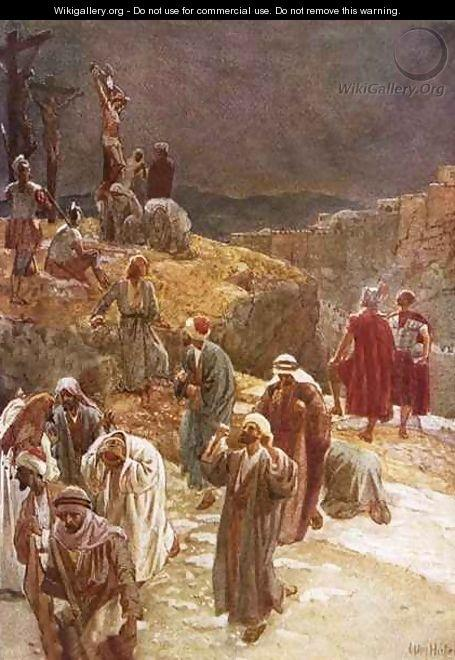 Jesus being scourged