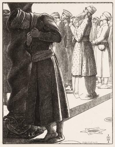 The Pharisee and the Publican by John Everett Millais