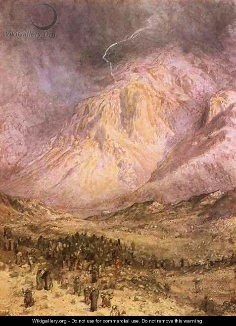 The giving of laws on Sinai