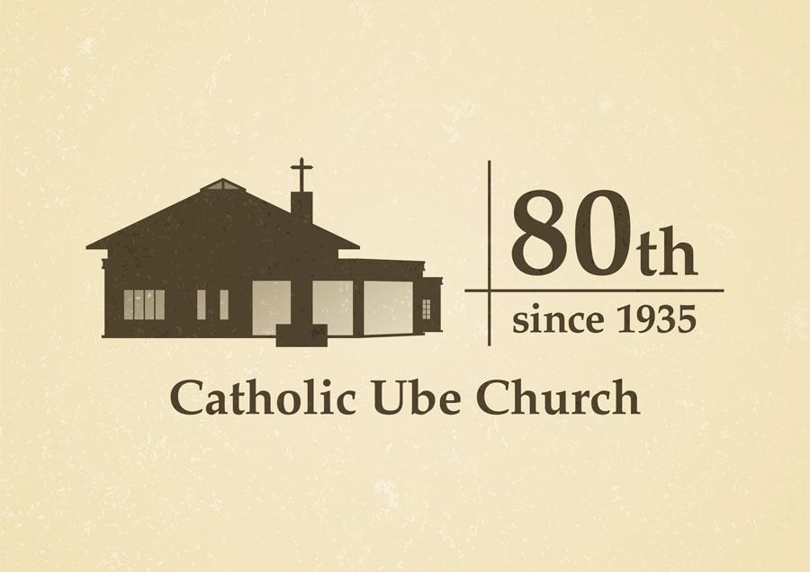 カトリック宇部教会創立80周年記念ロゴ